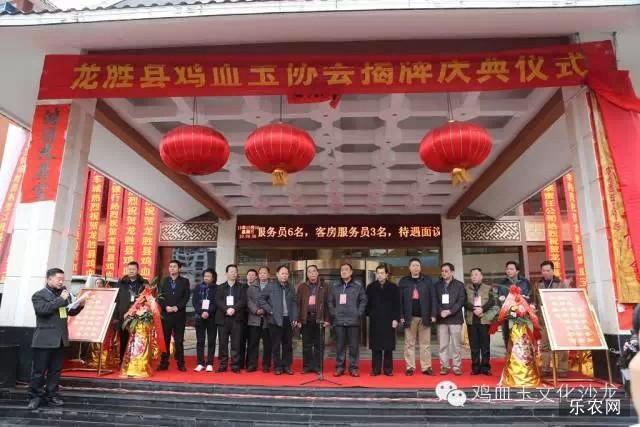 龙胜鸡血玉协会王茂超会长在揭牌仪式上的讲话
